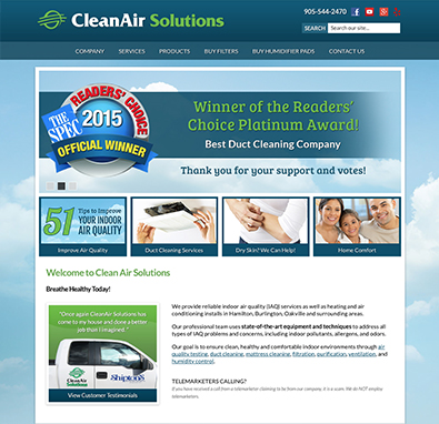 Marketing Case Study - CleanAir Solutions Hamilton