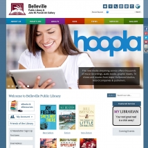 Custom Web Design, Belleville Library