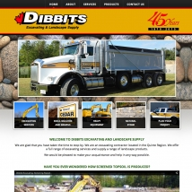 Custom Web Design, Dibbits Excavating