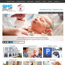 Custom Web Design, Quinte Health Care