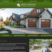 Custom Web Design, Hollandale Landscaping & Garden Centre Ltd.