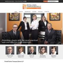 Custom Web Design, Pretsell Davies Thompson Benton LLP