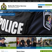 Custom Web Design, Belleville Police