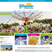 Custom Web Design, Belleville Waterfront and Ethnic Festival
