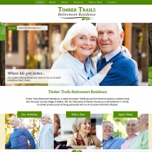Custom Web Design, Timber Trails Retirement